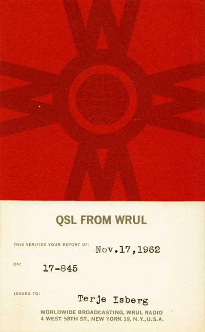 WRUL from November 1962