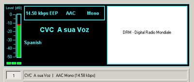 Transmission from CVC A Sua Voz17660 kHz, Chile
