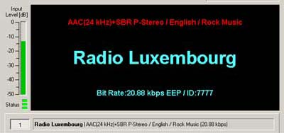 Radio Luxembourg transmission in English from Juelich, Germany