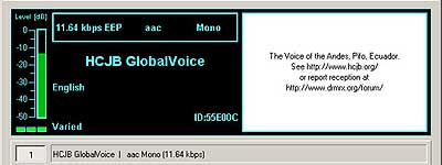 HCJB Globalvoice on 9870 kHz