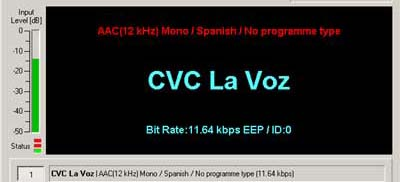 Transmission from CVC LA VOZ on 17645 kHz, Chile