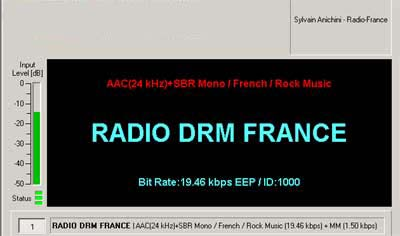 Test Transmission from Radio DRM France