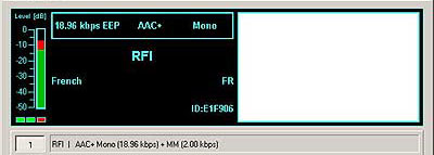 Smartcast test transmission from Radio France International