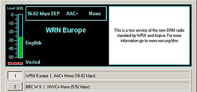WRN Europe from London on 26000 kHz