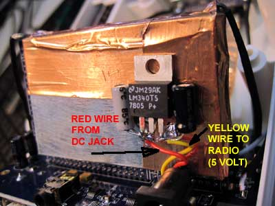 Insert a 7805 voltage regulator to avoid trouble