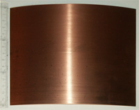 The copper sheet for one cylinder