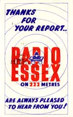 Radio Essex (QSL No. 80)