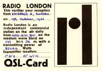 Radio London (QSL No. 73)