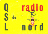 A QSL card from the 50 years Anniversary on 8th March 2011 of the start of Radio Nord